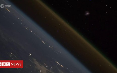 104458979 p06sn8ny - Astronaut on ISS captures spacecraft launch footage