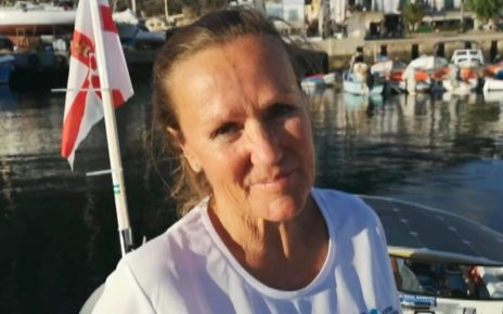 p06stxhb - Solo rower Shirley Thompson starts Atlantic attempt