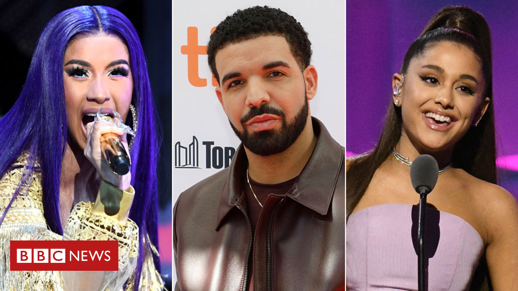 104686871 cardi drake ariana gett - Music industry gears up for Grammy nominations