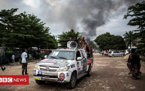 104765187 hi051162142 - DR Congo poll: Blaze hits electoral depot as tense vote nears