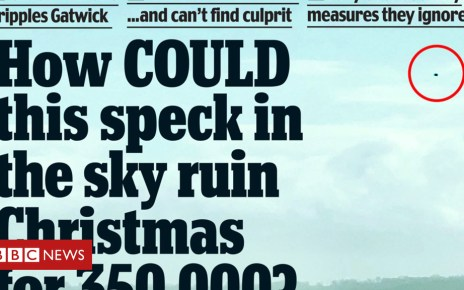 104902450 mail - Newspaper headlines: Chaos of the Gatwick 'speck in the sky'