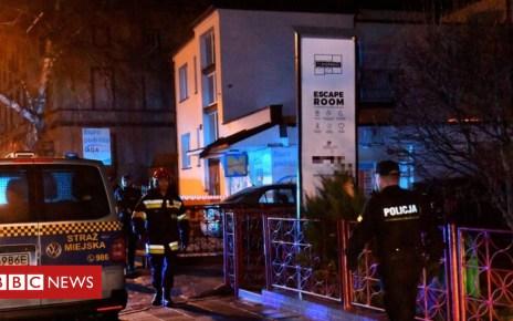 105068693 tv051445955 - Escape room fire kills five teenagers in Poland