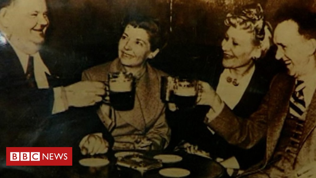 105146680 p06xv61l - When Stan and Ollie pulled pints in a village pub
