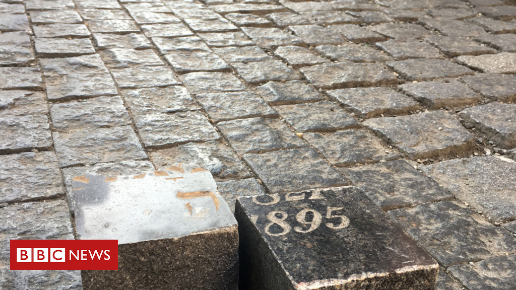 105155288 cobbles 9761176 - The European capital cobbled with Jewish gravestones