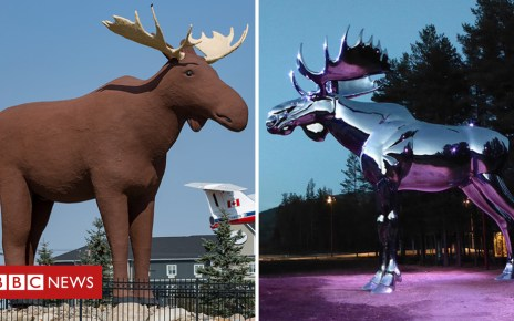 105183465 faceoff - 'Don't mess with Mac': International face-off over moose statues