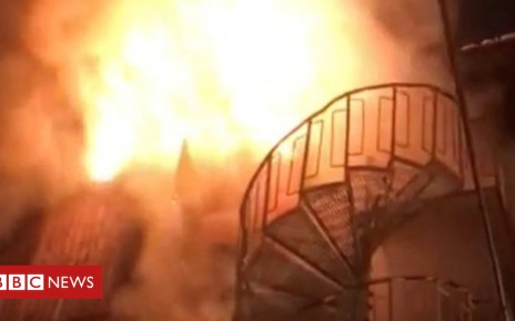 105256333 courchevel - Courchevel fire: Footage shows deadly blaze at French ski resort