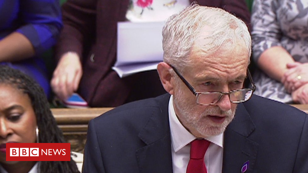 105312035 corbyn - PMQs: Theresa May and Jeremy Corbyn on Davos and living standards