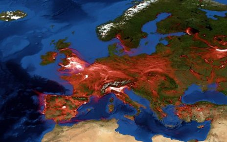 p06y1p95 - Watch how air pollution moves across Europe