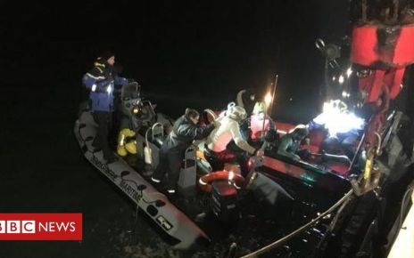 104960311 gendarmerie maritime - Iranian migrant tells of 'miracle' boat rescue in Channel