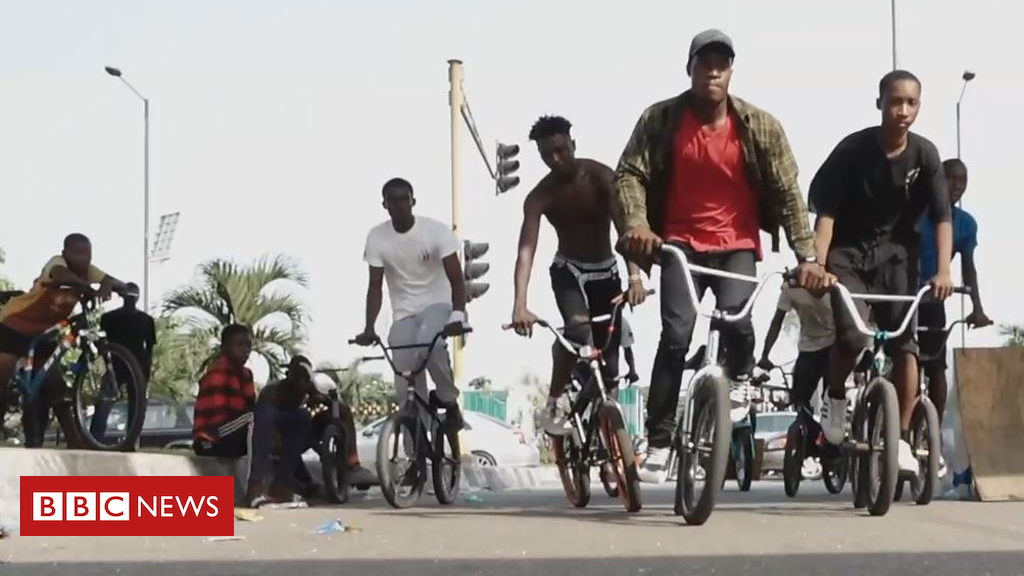 105487453 p0700ctp - BMX riding in Lagos: Starboy using sport to keep kids out of trouble