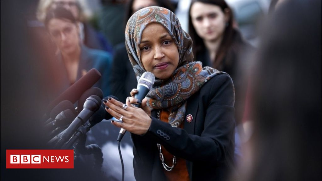 105604365 tv052156171 - Ilhan Omar: Congresswoman accused of 'anti-Semitic' tweet