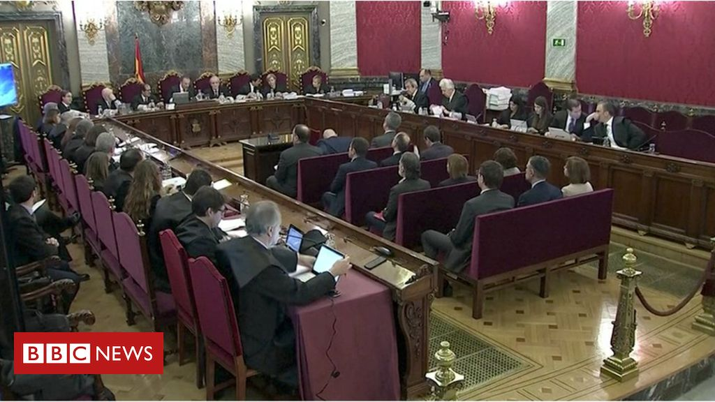 105613015 hi052277377 - Catalonia independence leaders on trial in Madrid