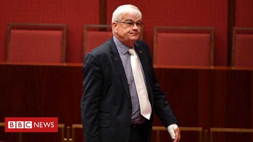 105642528 e16fb259 1c2a 4f4a a7f9 b93019712cb8 - Australian senator sorry for wiping blood on ex-leader's door
