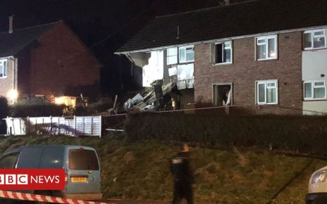 105766847 capture - Bristol house damaged in 'big explosion'