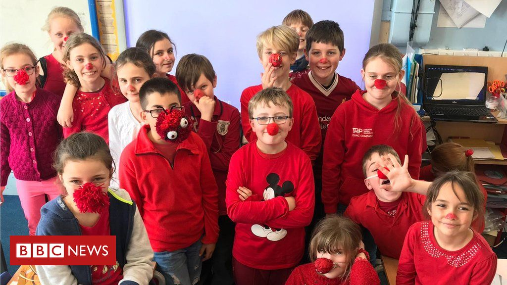 106010539 rednosekids - Comic Relief: School shuns red nose plastic because of pollution fears