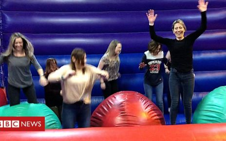 106012817 p073fb6w - Adults-only inflatables night in Ipswich rekindles childhood joy