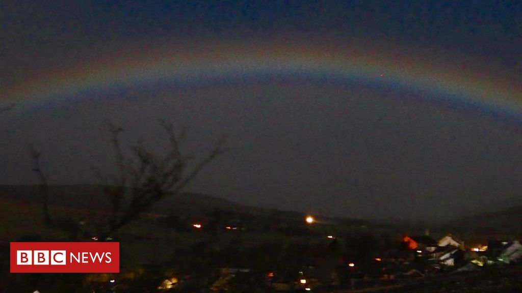 106120453 moonbow - Moonbow over Cumbria heralds arrival of spring 2019
