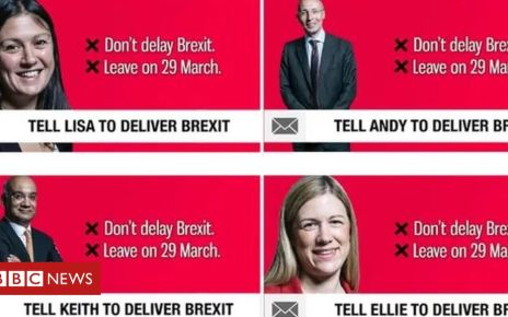106297438 mediaitem106297437 - Facebook no-deal Brexit ads 'from same source'