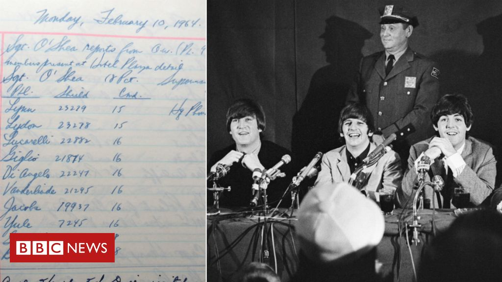 106453505 beatleslogandpic - The Beatles in New York: Police logs detail band's first US visit