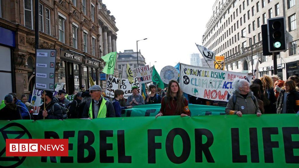 106455047 hi053448428 - Extinction Rebellion protesters block London roads