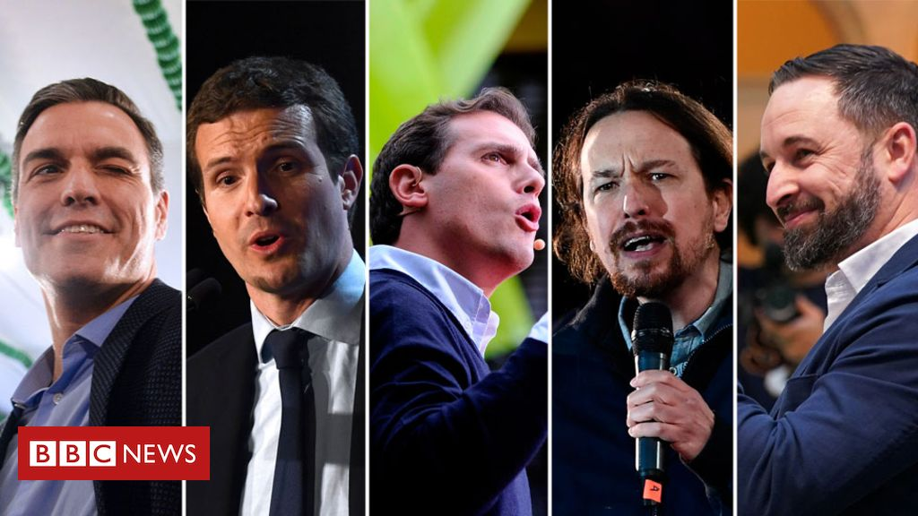 106457460 spain election composite - Spanish election: Socialists battle to stop right-wing surge