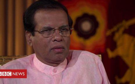 106811396 p078f2v7 - Sri Lanka president: IS 'chose Sri Lanka to show they exist'