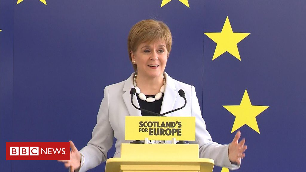 106864151 p078r321 - 2019 European elections: Sturgeon says Scotland does not want Brexit