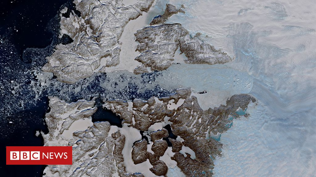 106950257 jakobshavn glacier - Jakobshavn Isbrae: Mighty Greenland glacier slams on brakes