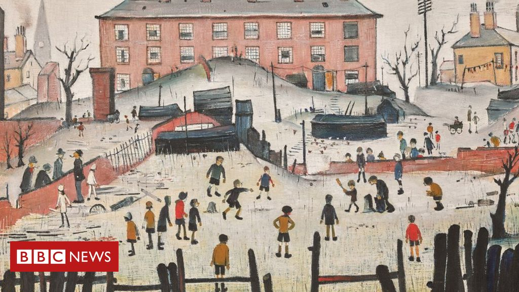 106999022 cm - Lowry cricket painting to be auctioned during World Cup