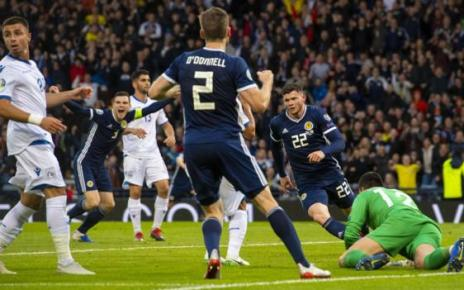 107305775 19058244 - Scotland 2-1 Cyprus: Steve Clarke's reign starts with victory after Oliver Burke winner
