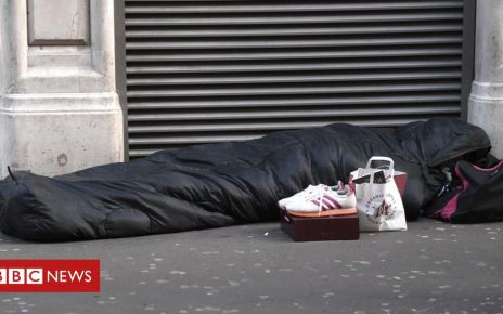 107458039 homeless - Rough sleeping: London figures hit record high