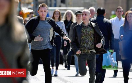 107487913 trainspotting filming getty - Danny Boyle rules out more Trainspotting films 'at the moment'