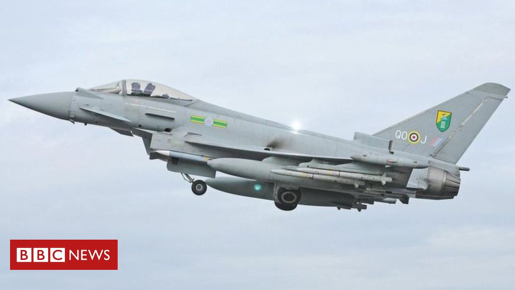 107527779 fighter - RAF fighters escorted Jet2 flight after 'miscommunication'