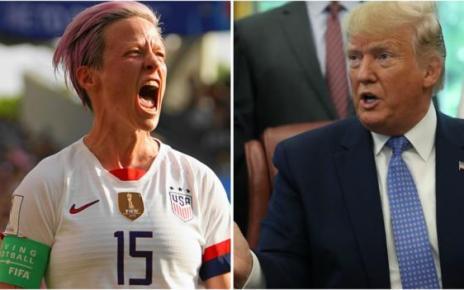 107548811 trump getty - Megan Rapinoe: Donald Trump tells US women's co-captain to 'respect flag'