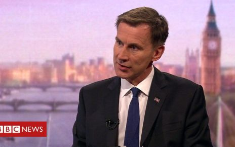 107645163 p07flqkp - Jeremy Hunt would no-deal Brexit 'with a heavy heart'