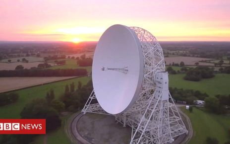 107787586 p07gb90g - Jodrell Bank Observatory made Unesco World Heritage site