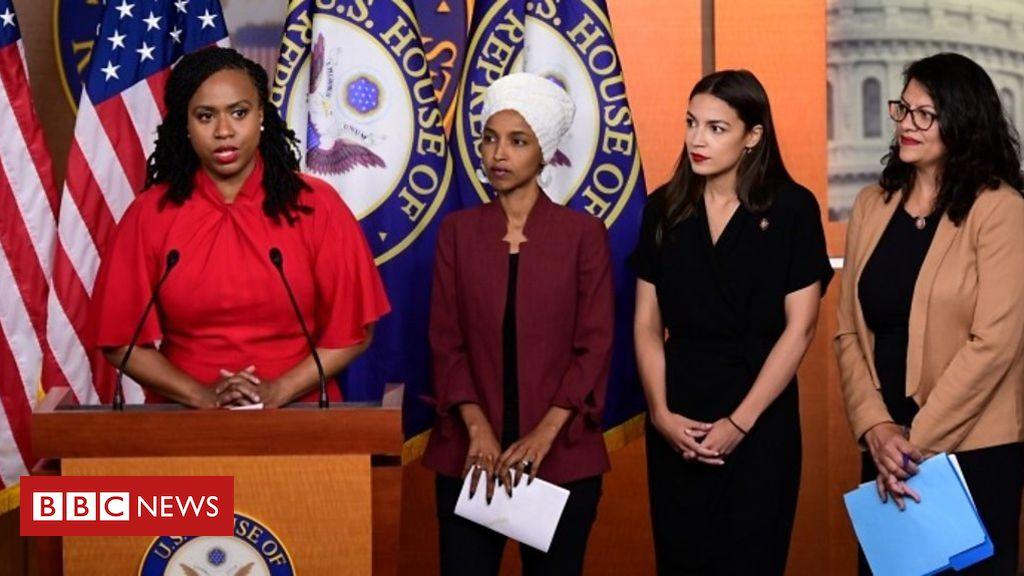 107892843 p07gzwx6 - Congresswomen hit back in Trump race row