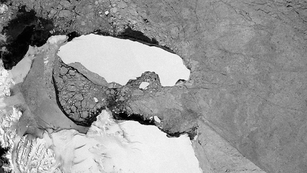 p07glwkj - A68: World's biggest iceberg is on the move