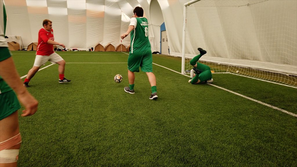p07hgvj4 - Football match record attempt in Cardiff ends after 169 hours