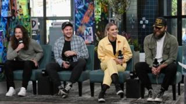 "Jonathon Douglass, Matt Crocker, Taya Smith and Joel Houston of Hillsong United discuss their multi-platinum album, ""People"" at Build Studio in April in New York"