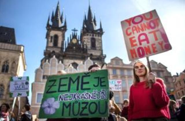Protesters in Prague