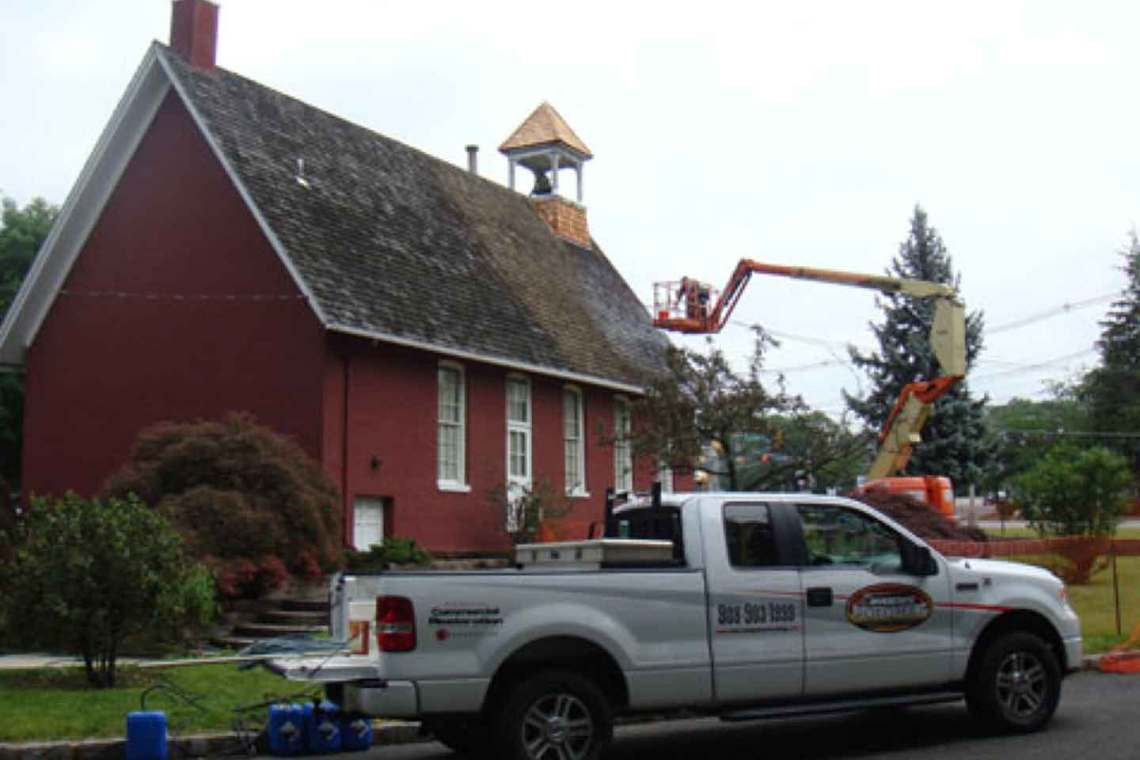 Cedar Roof Cleaning of Historical Building