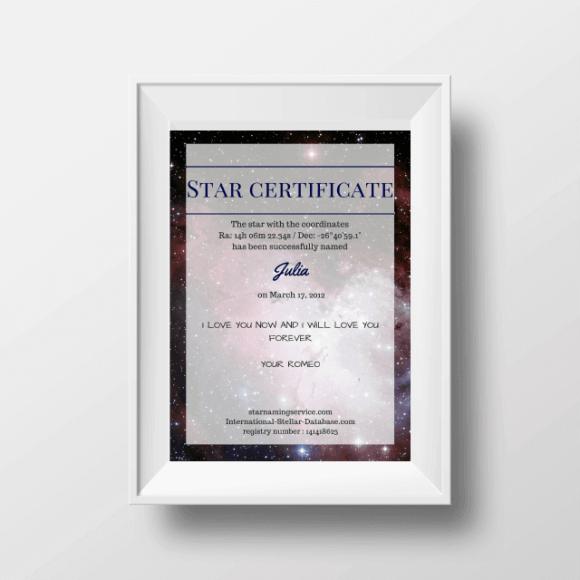 Star Certificate UK
