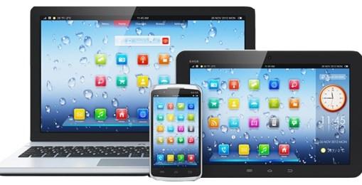 планшет, мобильный телефон, ноутбук