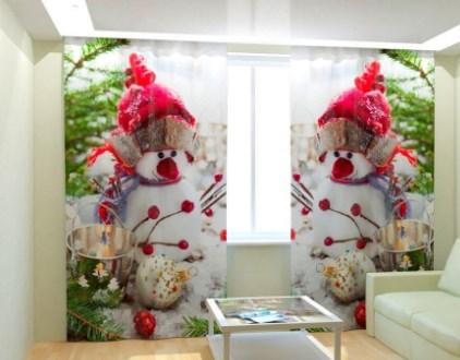 Новогодние шторы для детской комнаты