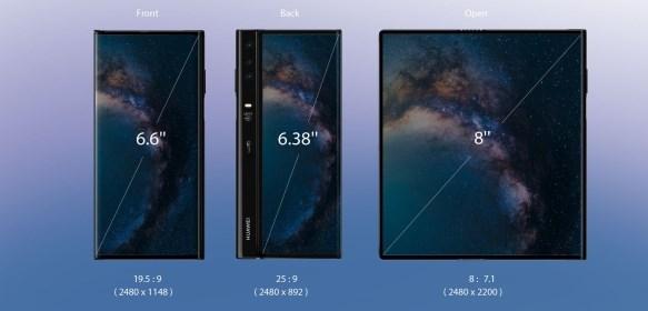 Размеры экрана Huawei Mate X