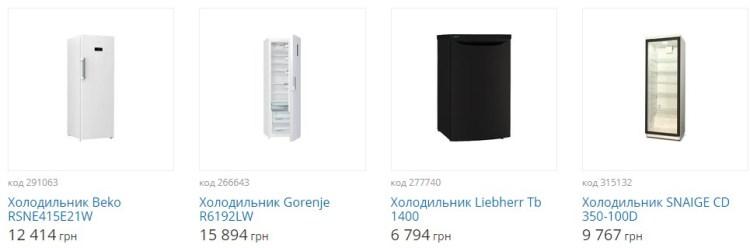 Рекомендуемые модели однокамерных холодильников