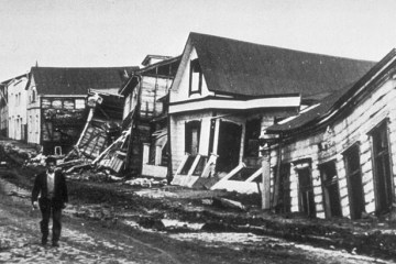 Valdivia after earthquake, 1960.