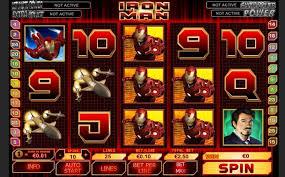 Железный человек - игровое поле автомата онлайн. Фото