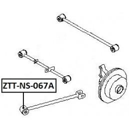 BUCHSE QUERLENKER NISSAN PRIMERA P12 01-, X-TRAIL T30 00
